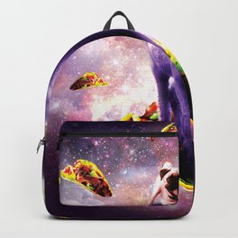 Cosmic Pug Riding Alpaca Unicorn Backpack
