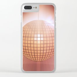 Sparkling disco ball Clear iPhone Case