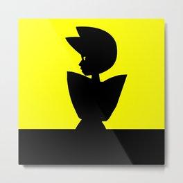 Yellow Diamond Metal Print
