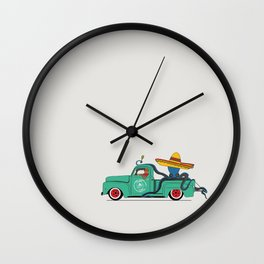 Octopus' journey on Ford f100 Wall Clock