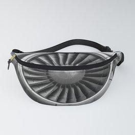 Vintage Airplane Turbine Engine Black and White Photography / black and white photographs Fanny Pack