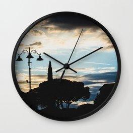 Italian cloudy evening Wall Clock