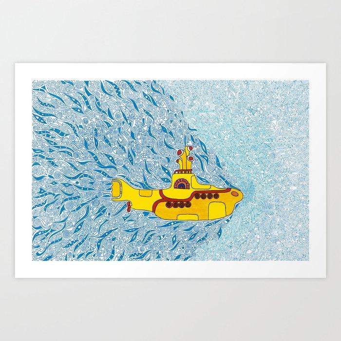 My Yellow Submarine Kunstdrucke