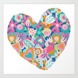 Feeling the love - heart shape Art Print