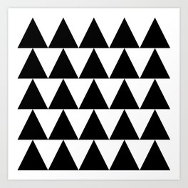 Black and White Triangle By PencilMeIn Art Print