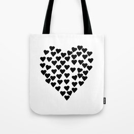 Hearts Heart Black and White Tote Bag