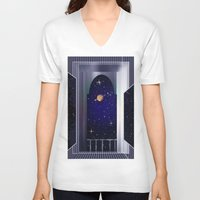 "titan V-neck T-shirts featuring House on ""Titan"" !  by capricorn"
