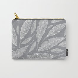 Float Like A Feather - Grey Carry-All Pouch