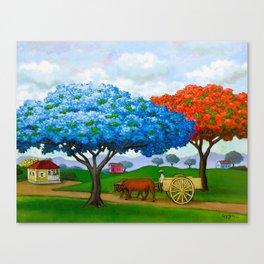 Flamboyán Azul Canvas Print