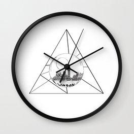 Graphic . geometric shape gray London in a bottle Wall Clock