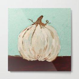 the white pumpkin Metal Print