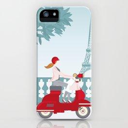 Shopping in Paris iPhone Case