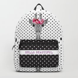 FLOWER GIRL GIRAFFE Backpack