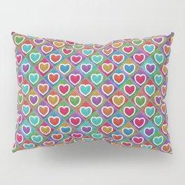 Cute knitted hearts Pillow Sham