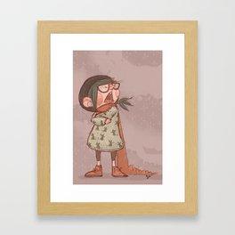 Maus winter Framed Art Print