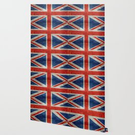 "UK British Union Jack flag ""Bright"" retro Wallpaper"