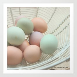 Fresh Basket of Hen Eggs, No. 3 Art Print