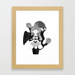 Magical Bird Girl Framed Art Print