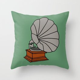 Grammophone Throw Pillow