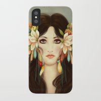 helen iPhone & iPod Cases featuring Helen of Troy by La Cococita
