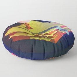 Earth Sandwich One, Variant D Floor Pillow