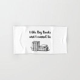 I like big books and I cannot lie Hand & Bath Towel
