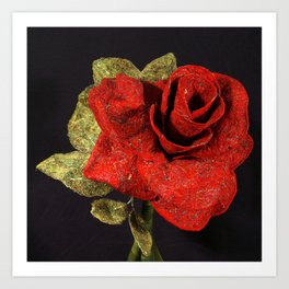 By Any Other Name (Red Rose) Art Print