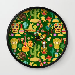 Fiesta Time! Mexican Icons Wall Clock