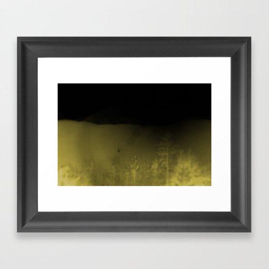Forest-Mustard Framed Art Print
