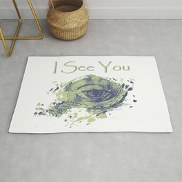 i see you - ayes Rug