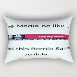 The Media on Bernie Sanders. Rectangular Pillow