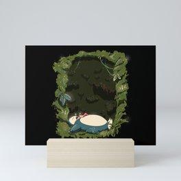 Sleeping with Snorlax Mini Art Print