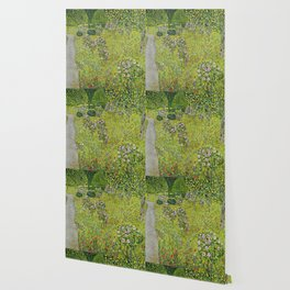 "Gustav Klimt ""Orchard with Roses (Obstgarten mit Rosen)"" Wallpaper"