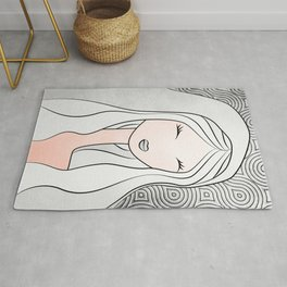 Lady In Silver Rug