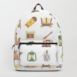 CUTE WILD WEST / COWBOY PATTERN Backpack