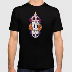 Caliveras Day of the Dead Black MEDIUM Mens Fitted Tee