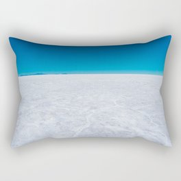 Wide Open Spaces, Salar de Uyuni Salt Flat, Bolivia Rectangular Pillow