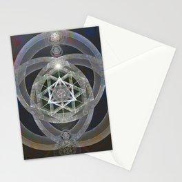 Spectrum Flow Merkaba Sacred Geometry Meditation Tapestry Print Stationery Cards