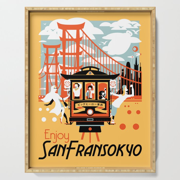 Enjoy San Fransokyo Serving Tray