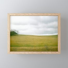 Field and Cloud Sky Framed Mini Art Print