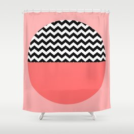 Moiety Pink Shower Curtain