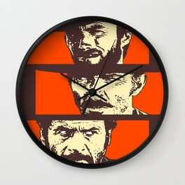 Blondie, Angel Eyes, Tuco Wall Clock