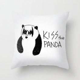 Kiss the Panda Throw Pillow