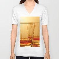 whiskey V-neck T-shirts featuring Whiskey by Vishal Wadhwani