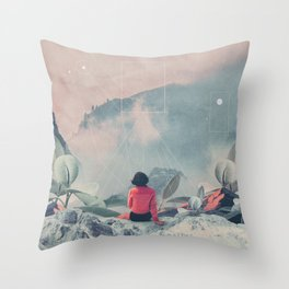 Lost in the 17th Dimension Throw Pillow