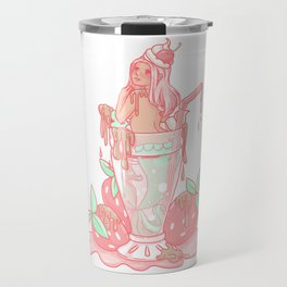 Strawberry Mermaid Shake Travel Mug