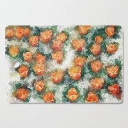 Field of Tulips Cutting Board