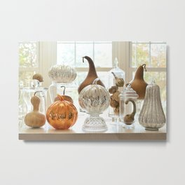 Oh My Gourd, Its Fall Metal Print