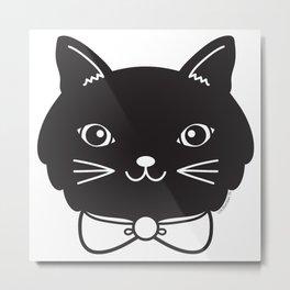 Dapper Black Kitty Cat Metal Print