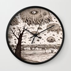 They came from the sky Wall Clock
